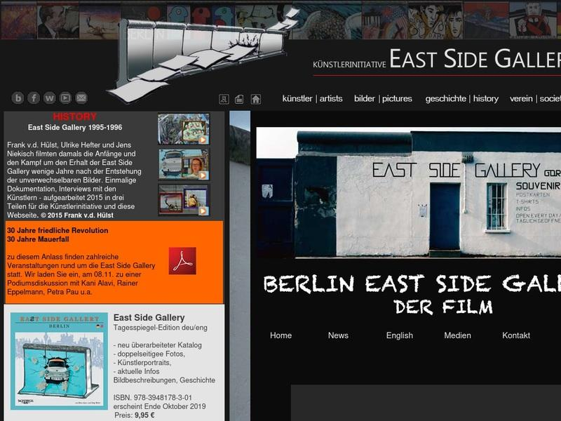 Screenshot von http://www.eastsidegallery-berlin.de/