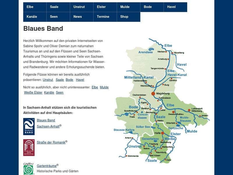 Screenshot von http://www.blaues-band.de/