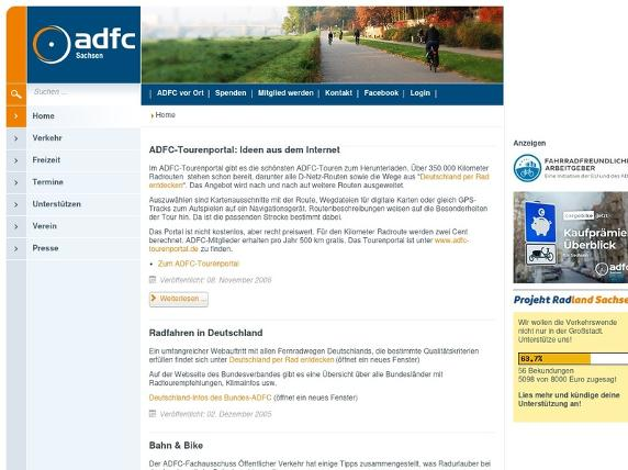 Screenshot von http://www.adfc-sachsen.de/index.php?option=com_content&view=category&layout=blog&id=6&Itemid=29